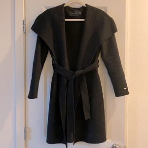 Tahari Double Faced Wrap Coat